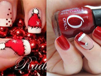 Cute-Christmas-Hat-Nail-Art-Designs-Ideas-Trends-Stickers-2014-Xmas-Nails