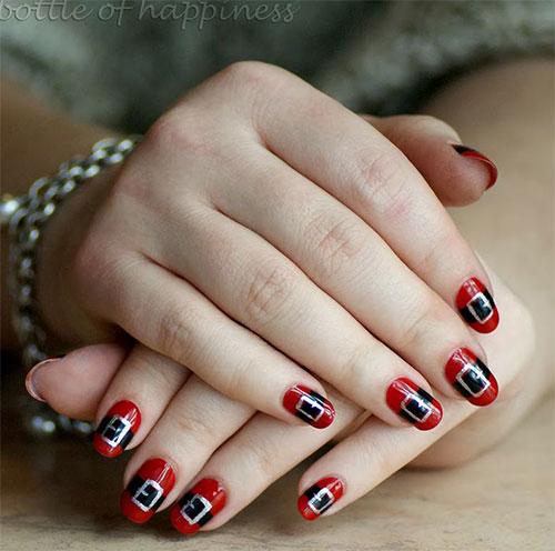Santa-Belt-Nail-Art-Designs-Ideas-Stickers-2014-Xmas-Nails-1