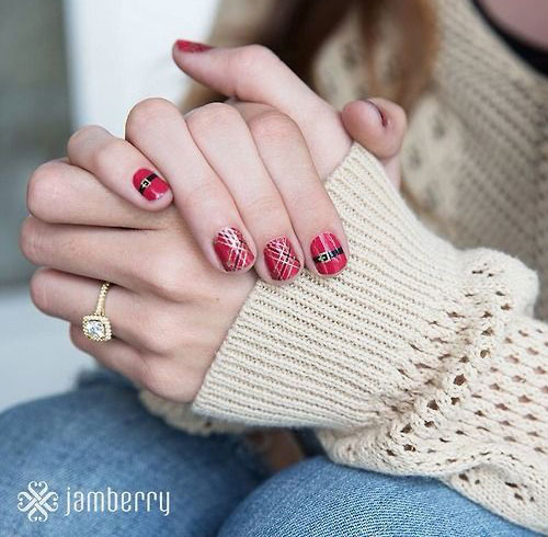 Santa-Belt-Nail-Art-Designs-Ideas-Stickers-2014-Xmas-Nails-2