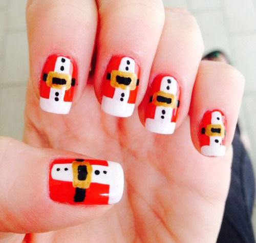 Santa-Belt-Nail-Art-Designs-Ideas-Stickers-2014-Xmas-Nails-3