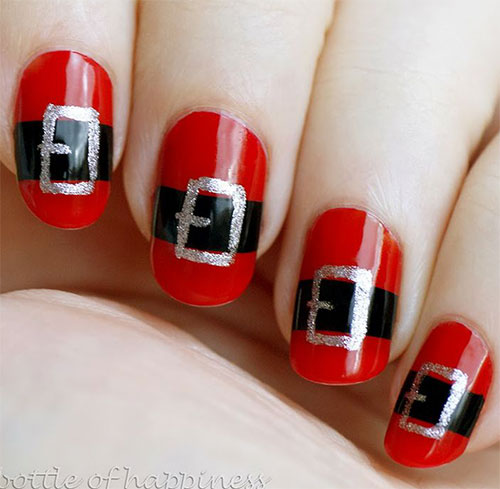 Santa-Belt-Nail-Art-Designs-Ideas-Stickers-2014-Xmas-Nails-6