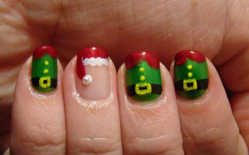 Santa-Belt-Nail-Art-Designs-Ideas-Stickers-2014-Xmas-Nails-7