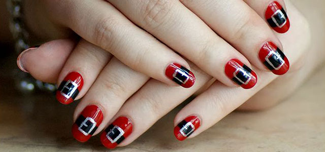 Santa-Belt-Nail-Art-Designs-Ideas-Stickers-2014-Xmas-Nails
