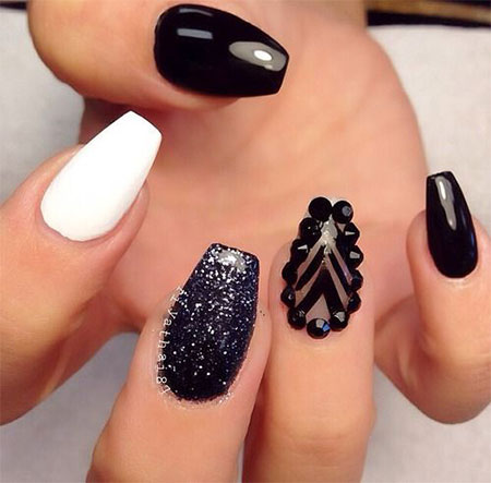 12 Winter Black Nail Art Designs Ideas Trends