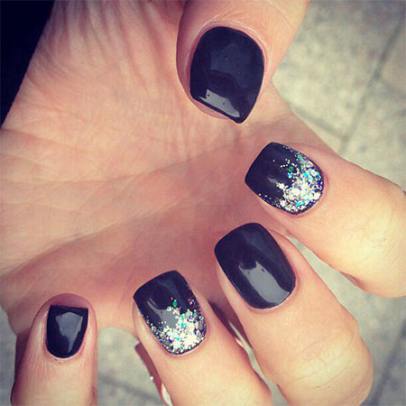 12-Winter-Black-Nail-Art-Designs-Ideas-Trends- - 12+ Winter Black Nail Art Designs, Ideas, Trends & Stickers 2015