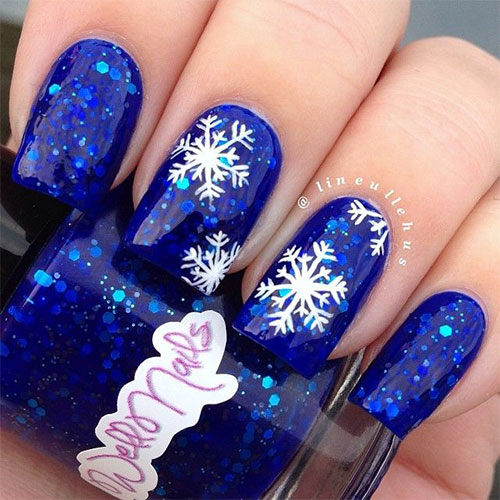 Superior 15 Blue Winter Nail Art Designs Ideas Trends