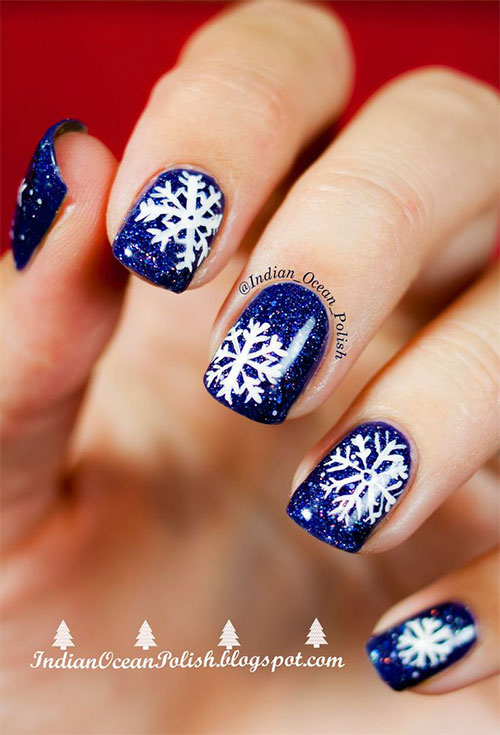 15 blue winter nail art designs ideas trends stickers 2015 fabulous nail art designs. Black Bedroom Furniture Sets. Home Design Ideas