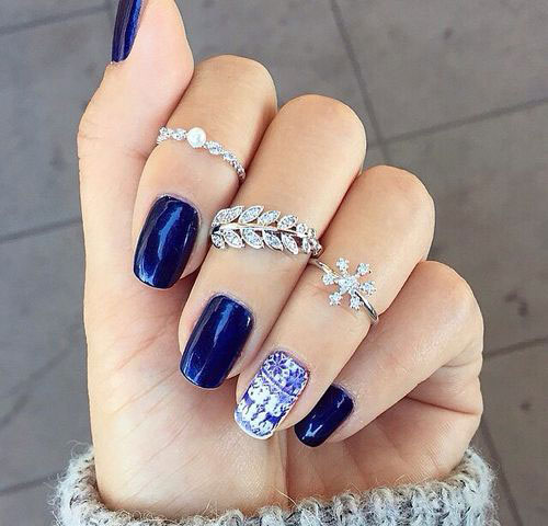 15 blue winter nail art designs ideas trends stickers