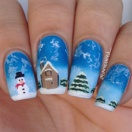 15-Easy-Snowman-Nail-Art-Designs-Ideas-Trends-Stickers-2015-14