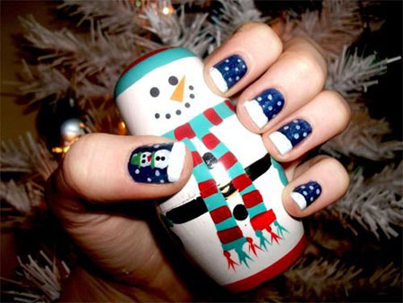 15-Easy-Snowman-Nail-Art-Designs-Ideas-Trends-Stickers-2015-2