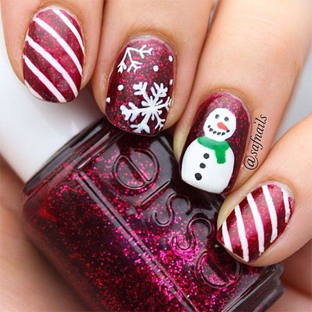 15-Easy-Snowman-Nail-Art-Designs-Ideas-Trends-Stickers-2015-3