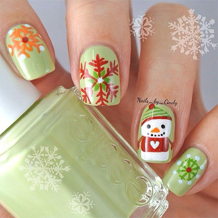 15-Easy-Snowman-Nail-Art-Designs-Ideas-Trends-Stickers-2015-5