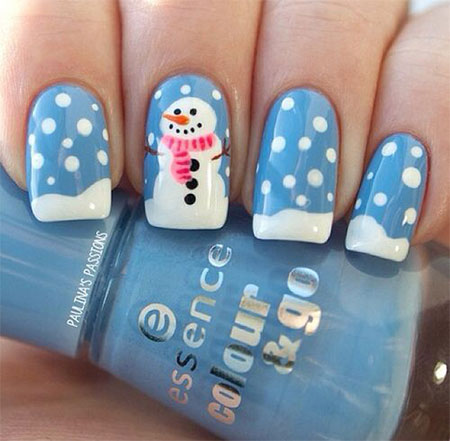 15-Easy-Snowman-Nail-Art-Designs-Ideas-Trends-Stickers-2015-7
