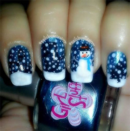 Nail designs snowman beautify themselves with sweet nails snowman nail art designs ideas trends stickers 2015 fabulous nail prinsesfo Images