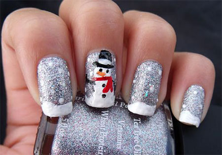 15-Easy-Snowman-Nail-Art-Designs-Ideas-Trends-Stickers-2015-9