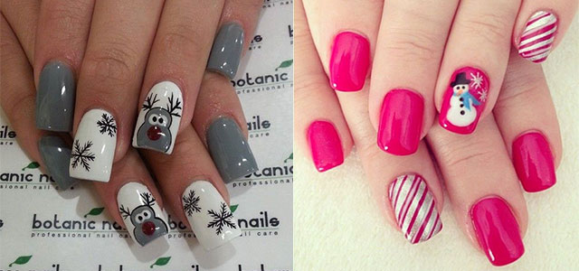 15 Easy Winter Nail Art Designs Ideas Trends Stickers 2014 2015