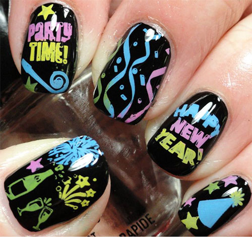 15 Happy New Year Eve Nail Art Designs Ideas Trends Stickers