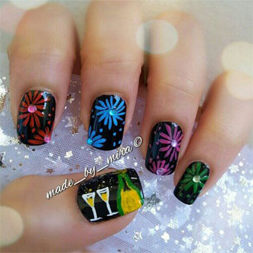 15 Happy New Year Eve Nail Art Designs Ideas Trends Stickers 2014 20