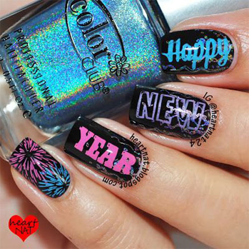 15 happy new year eve nail art designs ideas trends stickers 15 happy new year eve nail art designs prinsesfo Images