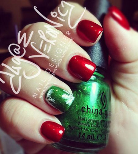 15-Pink-Red-Snowflake-Nail Art-Designs-Ideas-Trends-Stickers-2015-10