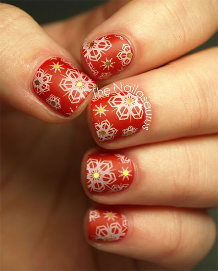 15-Pink-Red-Snowflake-Nail Art-Designs-Ideas-Trends-Stickers-2015-12