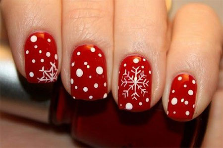 15-Pink-Red-Snowflake-Nail Art-Designs-Ideas-Trends-Stickers-2015-14