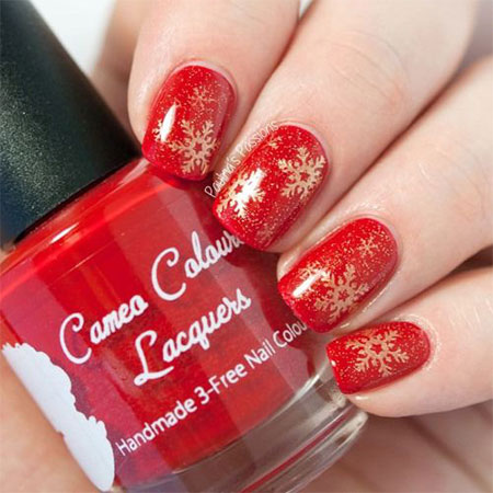 15-Pink-Red-Snowflake-Nail Art-Designs-Ideas-Trends-Stickers-2015-3
