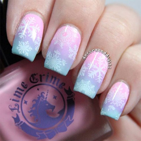 15-Pink-Red-Snowflake-Nail Art-Designs-Ideas-Trends-Stickers-2015-5