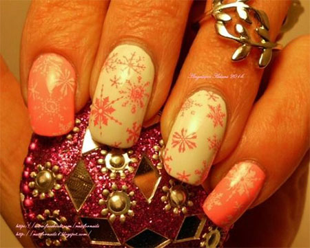 15-Pink-Red-Snowflake-Nail Art-Designs-Ideas-Trends-Stickers-2015-8