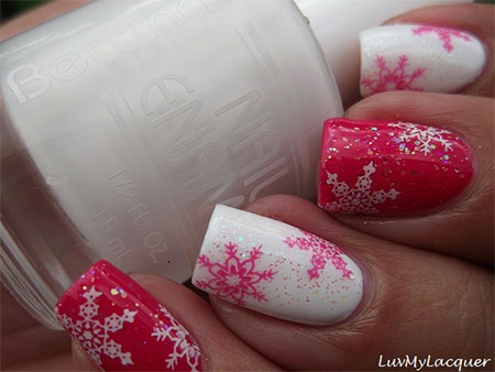 15-Pink-Red-Snowflake-Nail Art-Designs-Ideas-Trends-Stickers-2015-9