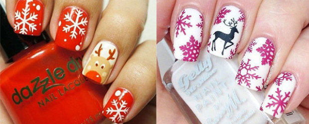 15-Pink-Red-Snowflake-Nail Art-Designs-Ideas-Trends-Stickers-2015