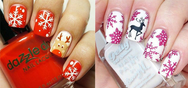 15 Pink Red Snowflake Nail Art Designs Ideas Trends Stickers