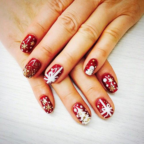 Amazing 20 Best Winter Snowflake Nail Art Designs Ideas