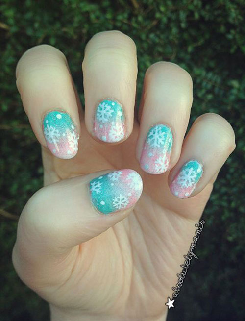 20 Best Winter Snowflake Nail Art Designs Ideas Trends Stickers 2014