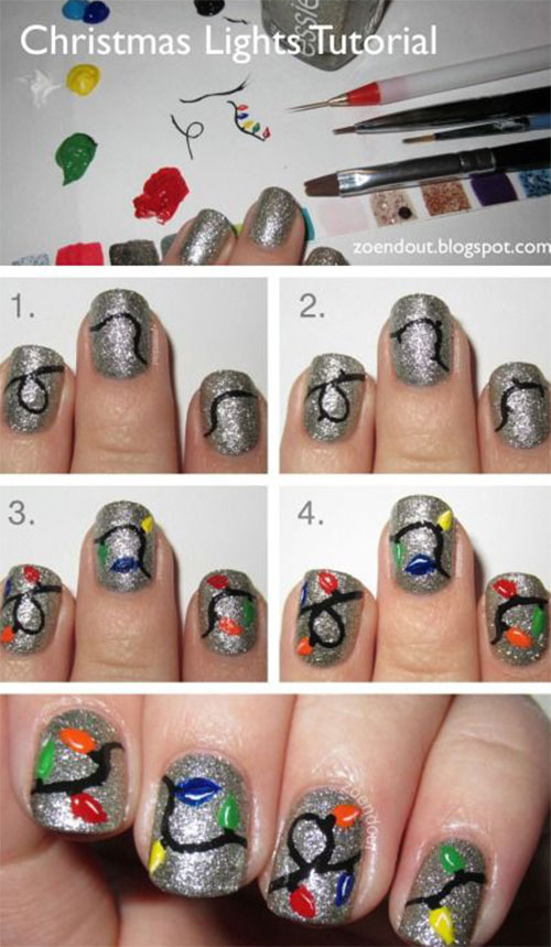 Easy Step By Step Christmas Nail Art Tutorials For Beginners ...