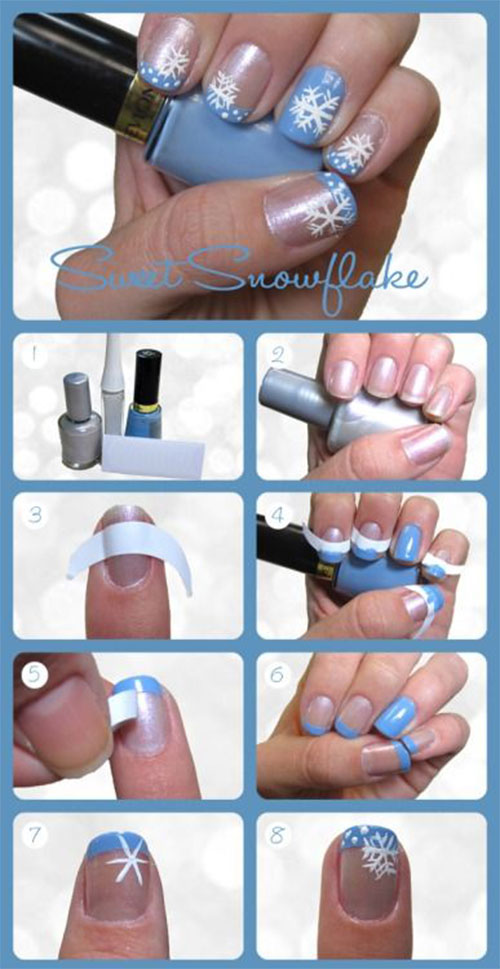 Easy-Step-By-Step-Christmas-Nail-Art-Tutorials-For-Beginners-Learners-2014-5