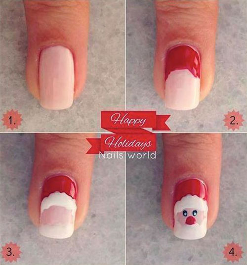 Easy-Step-By-Step-Christmas-Nail-Art-Tutorials-For-Beginners-Learners-2014-7