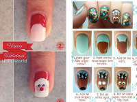Easy-Step-By-Step-Christmas-Nail-Art-Tutorials-For-Beginners-Learners-2014