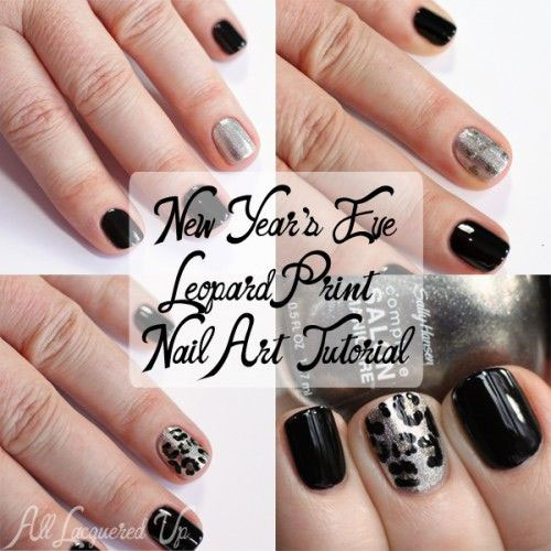 Easy Step By Step Happy New Year Eve 2014 2015 Nail Art Tutorials