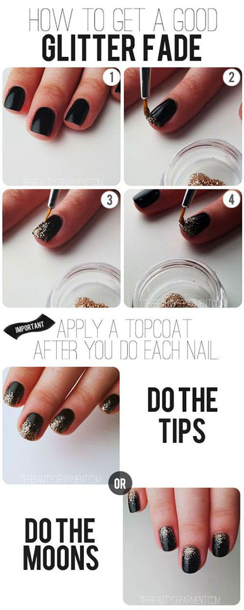Easy Step By Step Happy New Year Eve 2014/ 2015 Nail Art Tutorials For ...