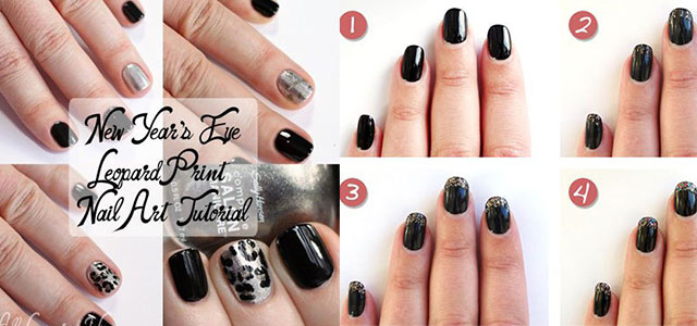Easy Step By Happy New Year Eve 2014 2015 Nail Art Tutorials For Beginners Learners