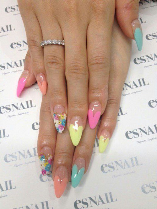 12-Valentines-Day-Little-Heart-Nail-Art-Designs-Ideas-Trends-Stickers-2015-Pointy-Nails-1