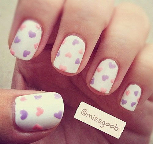 12-Valentines-Day-Little-Heart-Nail-Art-Designs-Ideas-Trends-Stickers-2015-Pointy-Nails-10