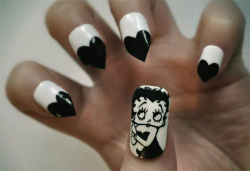 12-Valentines-Day-Little-Heart-Nail-Art-Designs-Ideas-Trends-Stickers-2015-Pointy-Nails-12