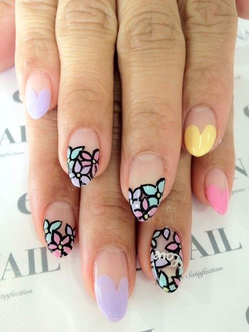 12-Valentines-Day-Little-Heart-Nail-Art-Designs-Ideas-Trends-Stickers-2015-Pointy-Nails-3