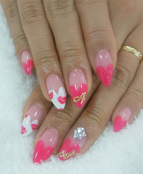 12-Valentines-Day-Little-Heart-Nail-Art-Designs-Ideas-Trends-Stickers-2015-Pointy-Nails-4