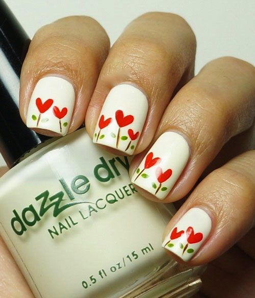 12-Valentines-Day-Little-Heart-Nail-Art-Designs-Ideas-Trends-Stickers-2015-Pointy-Nails-7