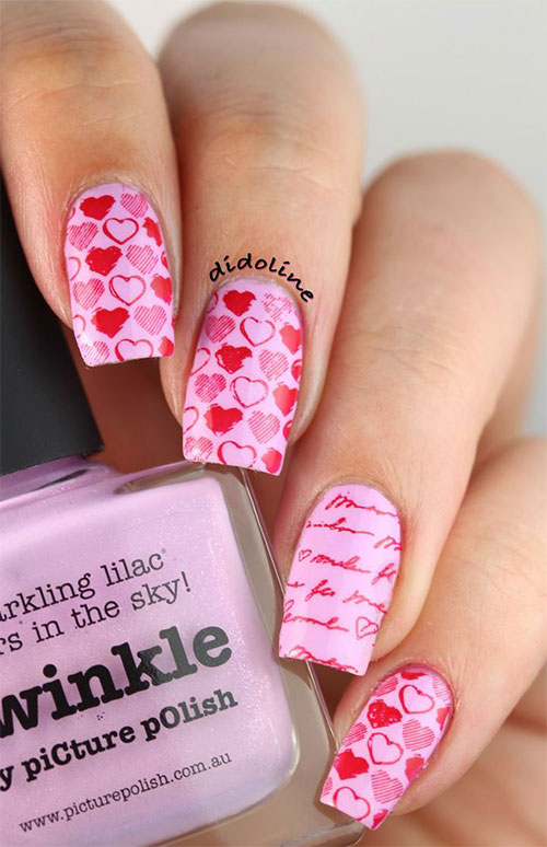Little Heart Nail Art Designs Ideas Trends Stickers 2015 Pointy Nails ...