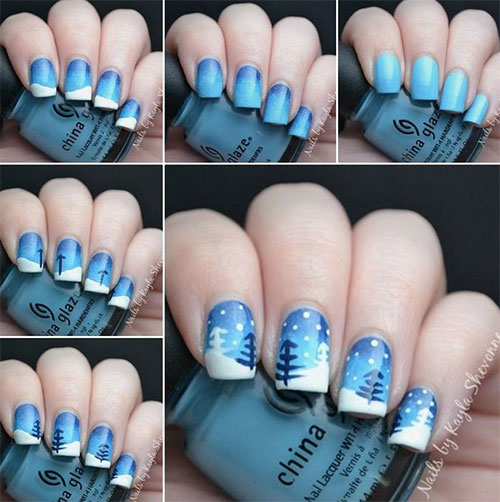 15 best step by step winter nail art tutorials for beginners 15 best step by step winter nail art prinsesfo Images