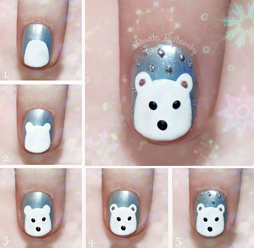 ... Step By Step Winter Nail Art Tutorials For Beginners & Learners 2015